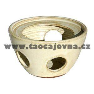 Keramický ohříváček – Bílý nahříváček čaje