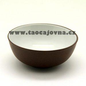 Kalíšek yixing tmavý, Čajová miska  glazovaná