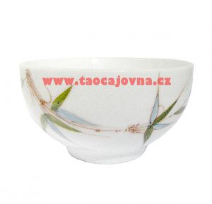 Zdobená miska na čaj – Porcelánový kalíšek