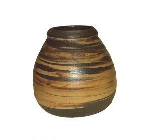Keramická kalabasa – tmavá, Žíhaná nádoba na Maté