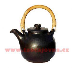 Keramická čajová konvička – Černá matná – objem 0,6litru