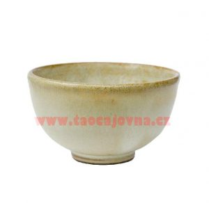 Čajová miska malá – béžová – Keramický glazovaný šálek