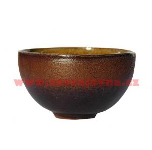 Keramický kalíšek hnědý – Glazovaný šálek na čaj