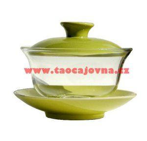 Zelený skleněný gaiwan – Zhong ze skla – 200 ml
