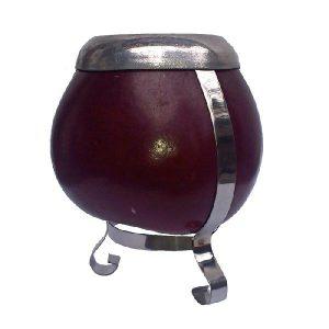 Bordó kalabasa s podstavcem – Fialová nádoba na Yerba Maté