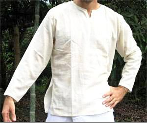Bílé lehké bavlněné triko – košile