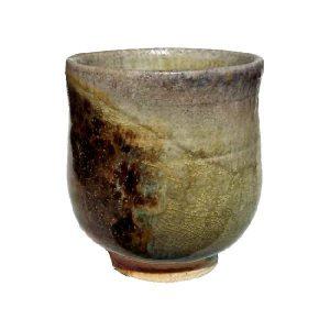 Vyšší kalíšek s hnědou skvrnou – Šedozelený šálek na čaj – Anagama