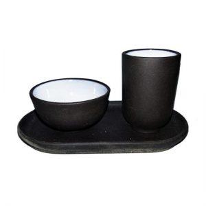 Yixing čichátko tmavé – Tmavá sada pro Gong Fu Cha