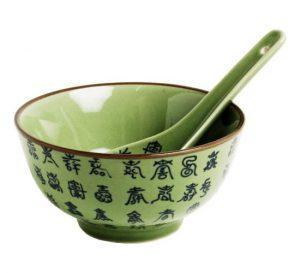 Celadonová zelená miska, Miska s kaligrafií z celadonu