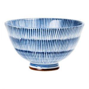 Bílomodrá rýžová miska, Mistička na čaj s pruhováním
