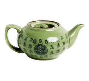 Celadonová zelená konvička, Konvička zdobená kaligrafií