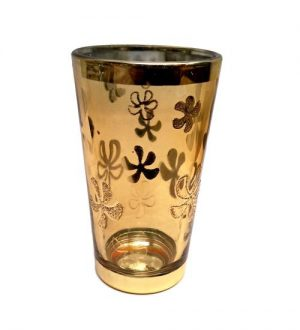 Zlaté skleničky s květy – Vyšší turecké skleničky