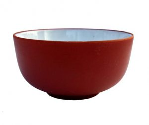 Yixingový cihlový kalíšek – Mistička z yixingu – červená