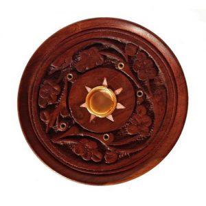 Kruhový stojánek na tyčinky, Vyřezávaný stojan na tyčky