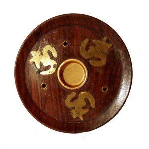 Menší kruhový stojánek, Dřevěný stojan na vonné tyčky