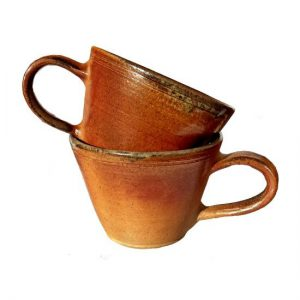 Hnědé hrnečky s glazurou – Hrneček na kávu a čaj, 2 kusy
