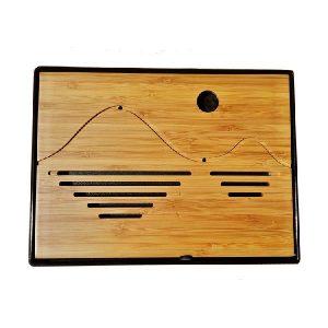 Obdélníkové bambusové čajové moře