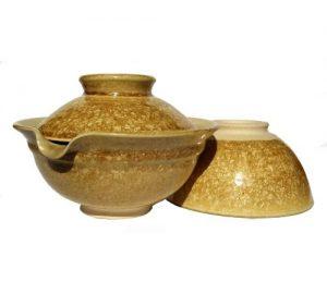 Zlaté lesklé shiboridashi na čaj, Gaiwan ve zlatých odstínech