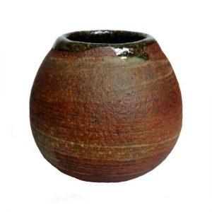 Hnědá keramická kalabasa – Originální kalabasa na mate