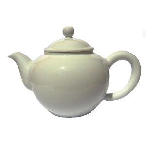 Bílá malá porcelánová konvička – Čistě bílá konvička na čaj 270ml