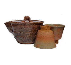 Japonská keramická sada, Starožitná bizen keramika