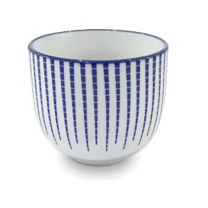 Vzorovaná bílomodrá miska – Porcelánová miska