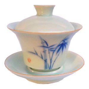 Bambusový motiv – zhong – tradiční celadon
