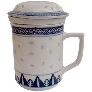 Bylinkový hrnek z porcelánu – Rýžový porcelán