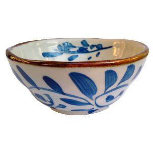 Jemná malovaná miska, porcelánová miska na čaj