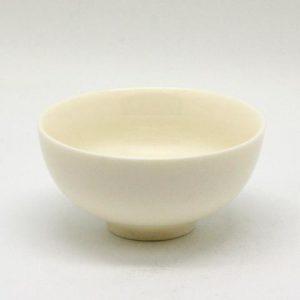 Bílá jemná miska na čaj, Malá tenká čajová mistička