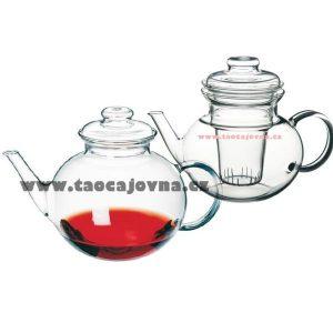 Konvice s výlevkou Eva 1l – Čajová konvička ze skla 1l
