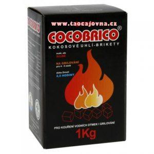 Cocobriko kokosové uhlíky 1kg, 100% přírodní uhlíky pro vodní dýmky