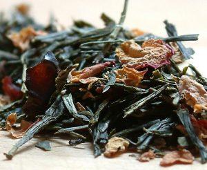 Višňový čaj s brusinkami, Zelený čaj Sencha Wildcherry