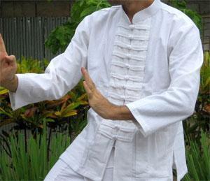 Bílá čínská košile – Košile na Tai-Chi