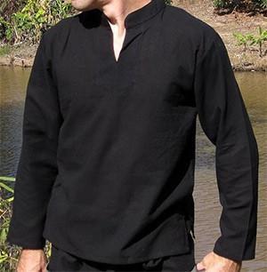 Černé bavlněné triko – košile