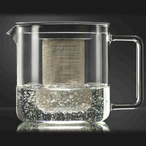 Konvice s kovovým sítkem – Konvice z varného skla 1.3l