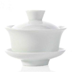 Bílý zhong bez zdobení – malý porcelánový zhong 110ml
