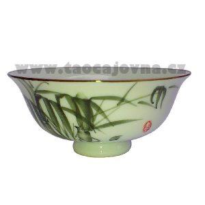 Čajová miska světle zelená – Kalíšek s bambus motivem