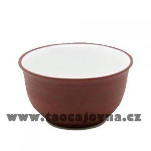 Miska yixing hnědá – Glazovaný kalíšek