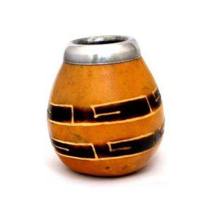Calabassa na přípravu Maté – Rytím zdobená tradiční kalabasa