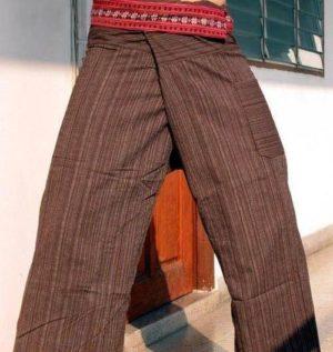 Zavazovací kalhoty hnědé s pasem