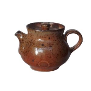 Keramická konvička rudá – Pálená v peci na dřevo – 120ml