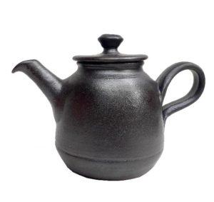 Keramická černá konvička – Čajník matný – objem 0,6l