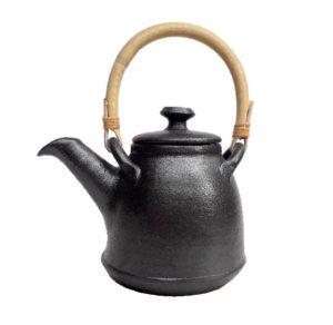Keramická černá konvička – Čajník matný – objem 0,6litru
