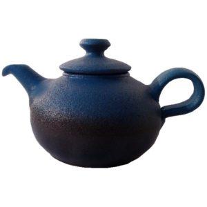 Keramická modrá konvička – Čajník matný – objem 0,7l