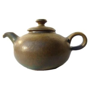Keramická zelená konvička – Čajník matný – objem 0,7l
