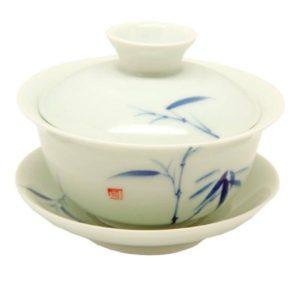 Zhong světlý s bambusem – porcelánový zhong 150ml