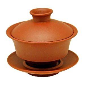 Yixing Zhong bez glazury – cihlový neglazovaný gaiwan 160ml