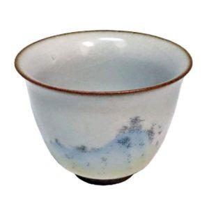 Celadonový šálek s engobou – krásný jemný šálek na čaj