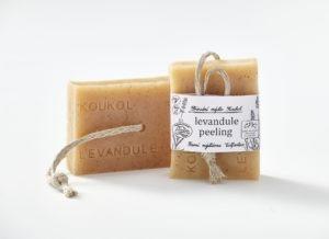 Přírodní mýdlo Koukol – Peeling – LEVANDULE
